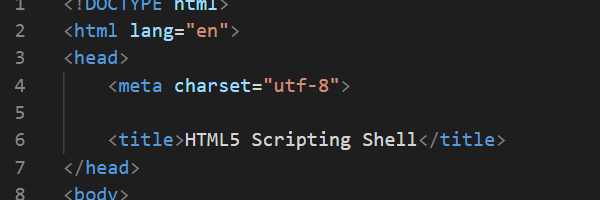 Create an HTML and Scripting Shell for Your Programs